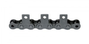 Rollenkette geradem Anbauteil einseitig_roller chain straight attachment 1 side_EngMec