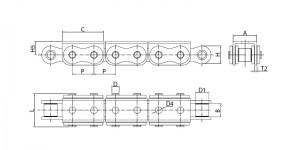 Rollenkette_u-Anbauteil_Roller Chain_U type_attachment_EngMec_skizze